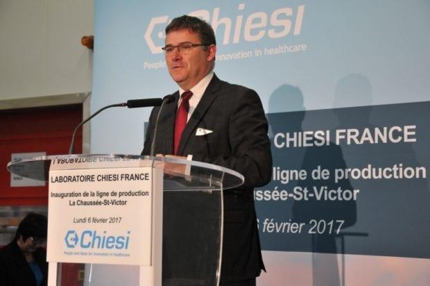 Le 6 Février 2017 – Le cabinet Nextep organise la visite du site du laboratoire Chiesi à la Chaussée Saint Victor (Loir-et-Cher), en présence du Secrétaire d'Etat chargé de l'industrie Christophe Sirugue.