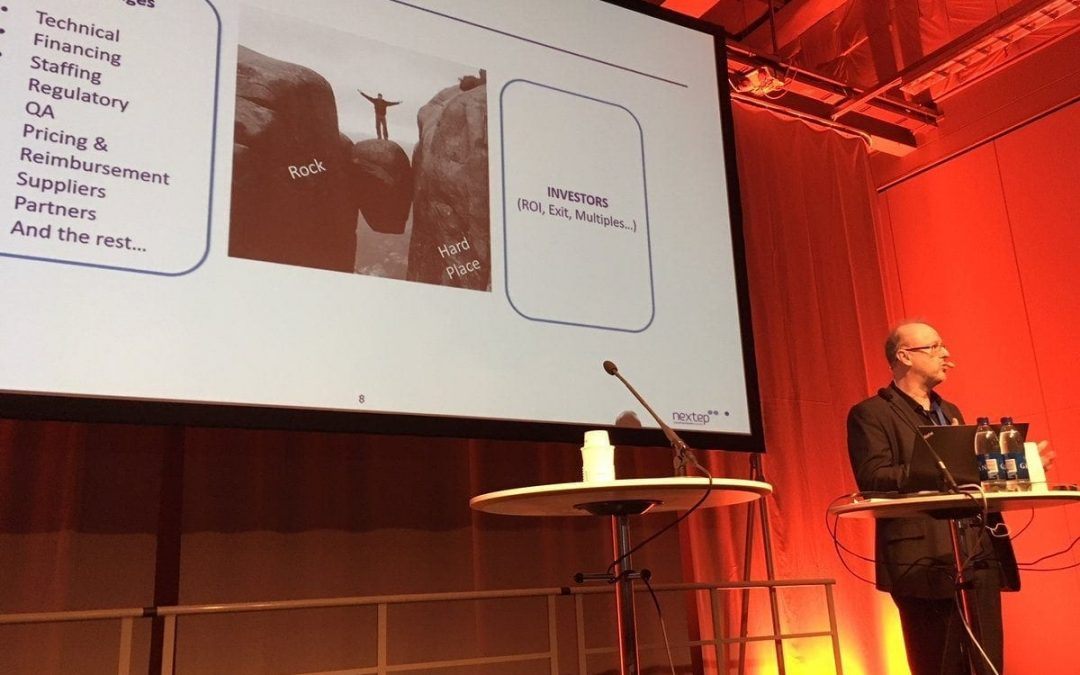 Nextep as ehealth discussion panel Chair at EBAN session in Goteborg