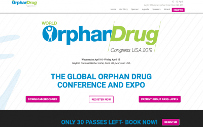 THE TEAM WILL BE WITH MEDVANCE AT THE WORLD ORPHAN DRUG CONGRESS USA